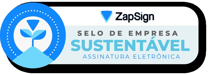 Selo de Sustentabilidade ZapSign
